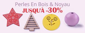 Perles En Bois & Noyau Jusqu'À  30%