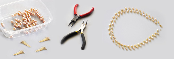 Build a Pearl Necklace with Headpinss
