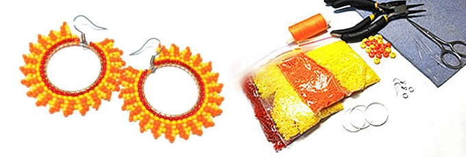 Seed Bead Earring Patterns - Make Showy Earrings with Colorful Beads