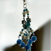 How to Make National Style Earring with Synthetic Turquoise Beads Strands