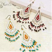 Beading Bohemian Style Earring by Varisized Seed Beads