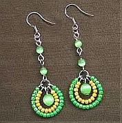 How to make seed bead earrings -4 step making seed bead earrings