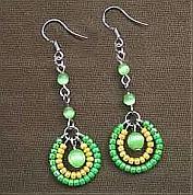 How to make seed bead earrings -4 step making seed bead earrings