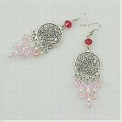 How to make chandelier earrings with chandelier component and glass beads
