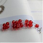 Bracelet making instructions-how to make a bracelet out of beads, chain and pins