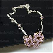 How to make necklaces guides-how to make a beaded necklace in unique elegant heart-shape