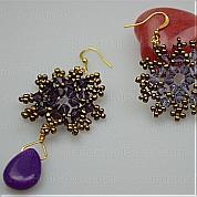 How to make stud earrings-pair of delicate snowflake shape stud earring guidance