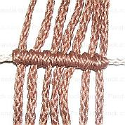Guide on how to tie a double half hitch knot and one frequently used pattern in friendship bracelet