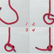 Step by step knot tying-How to tie an overhand knot