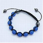 Various pave bead bracelets display different lingering charm