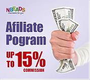 Nbeads Increases Its Affiliate Program Commission up to 15%