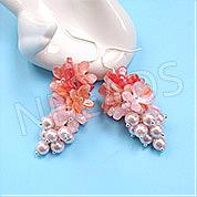Nbeads Tutorials on How to  Make Pink Flower Beads Dangle Earrings