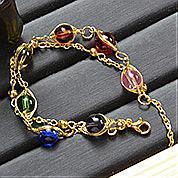 Nbeads Tutorials on How to Make  Winding Rainbow Stone Bracelet
