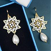 Nbeads Tutorials on How to Make  Delicate Eight-pointed Star Beaded Earrings