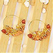 Nbeads Tutorials on How to Make  Elegant Flower Shaped Beads Earrings