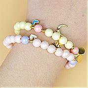 Nbeads Tutorials on How to Make  Candy Colored Beaded Bracelets With Metal Pendants