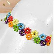 Nbeads Tutorials on How to Make  Colorful Flower Shaped Beaded Bracelet