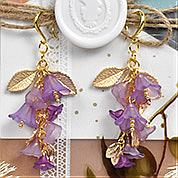 Nbeads Tutorials on How to Make  Purple Earrings With Flowers and Leaves