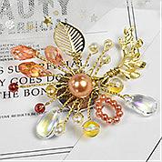 Nbeads Tutorials on How to Make  Vintage Winding Glass Bead Brooch