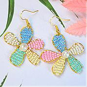 Nbeads Tutorials on How to Make  Colorful Flower Shape Beaded Earrings
