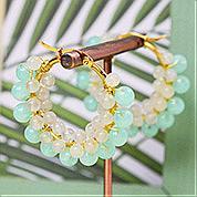 Nbeads Tutorials on How to Make Gemstone Hoop Earrings