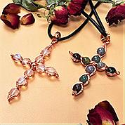 Nbeads Tutorials on How to Make  Gemstone Winding Cross Necklace
