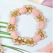 Nbeads Tutorials on How to Make  Pink Pearl Bracelet