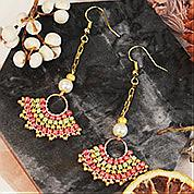 Nbeads Tutorials on How to Make Scalloped Hoop Earrings