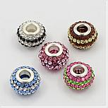Glass Rhinestone European Beads