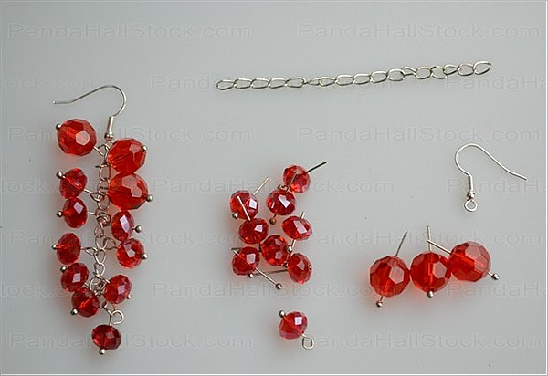 Earring making ideas- make dangle earrings with cherry strand ...