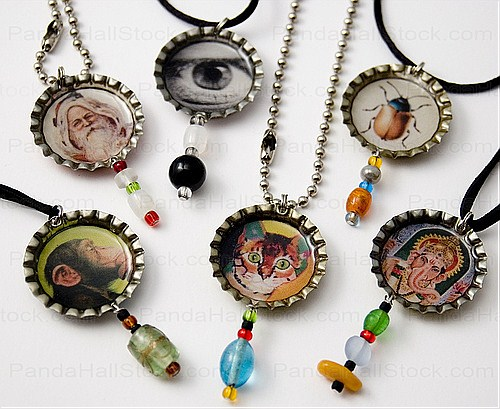 how to make bottle cap necklaces bottle caps can also
