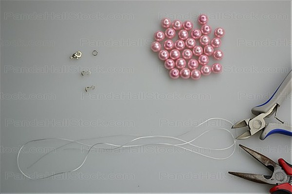 Materials needs for the pearl necklace making project
