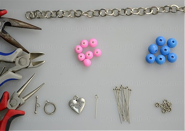 Things needed while learn how to make a charm bracelet