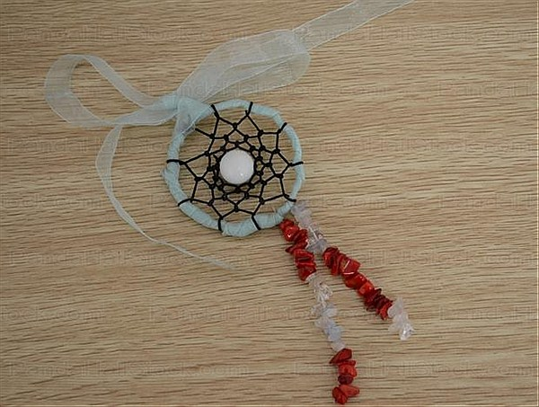How To Make Dream Catcher Necklace How to make a dreamcatcher necklace with ribbon Nbeads 33