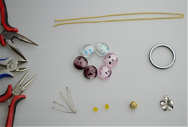 materials in necklace making instructions