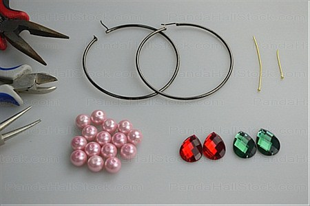 things need in how to make hoop earrings