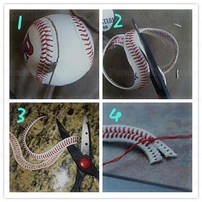 How to make a baseball bracelet steps