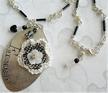 How to make hand stamped jewelry step 3