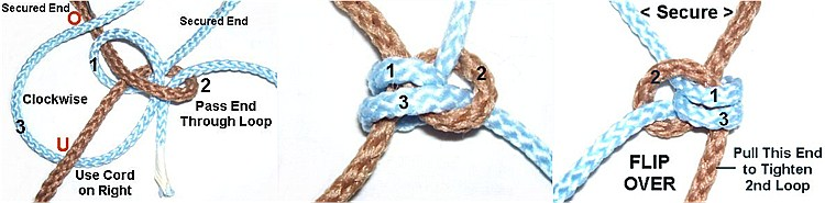 How to tie a Snake Knot step3