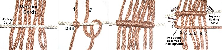 Double Half Hitch Knot Macrame Double Half Hitch Knot