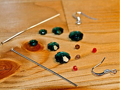 make your own earrings-beads and charms need