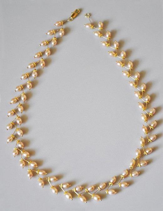 build a pearl necklace with headpins nbeads