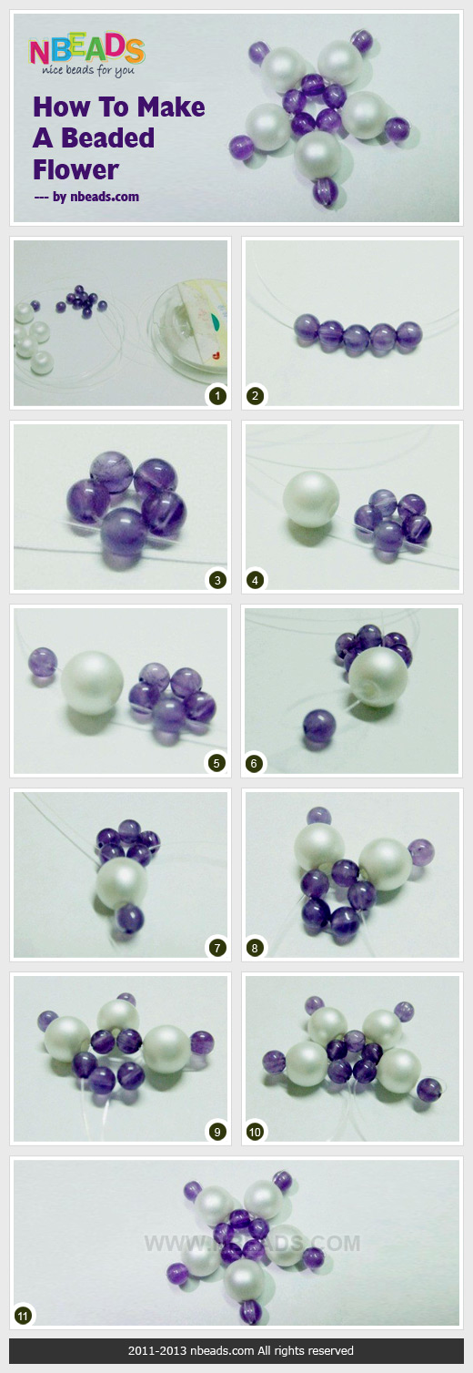 how to make a beaded flower