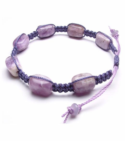 braided bracelet with beads