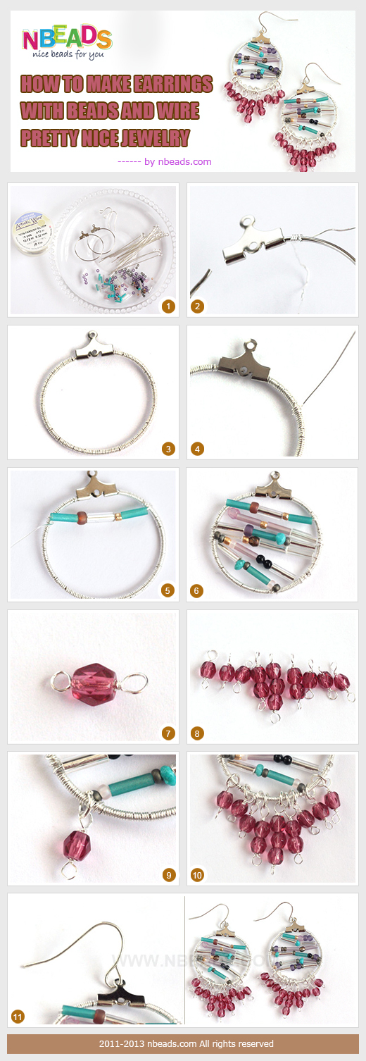 how to make earrings with beads and wire-pretty nice jewelry