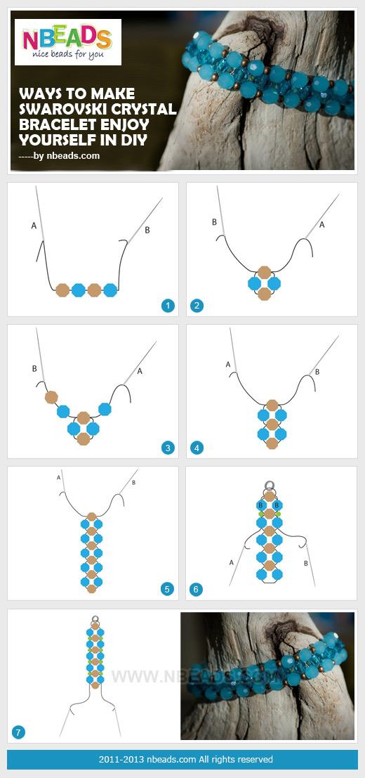 ways to make swarovski crystal bracelet-enjoy  yourself in diy