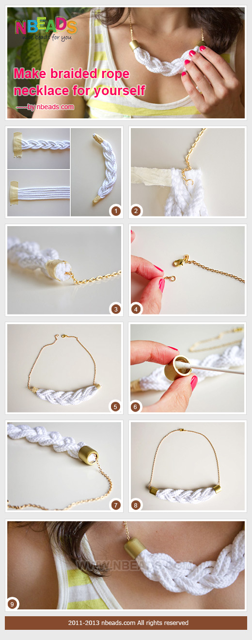 Make Braided Rope Necklace for Yourself – Nbeads