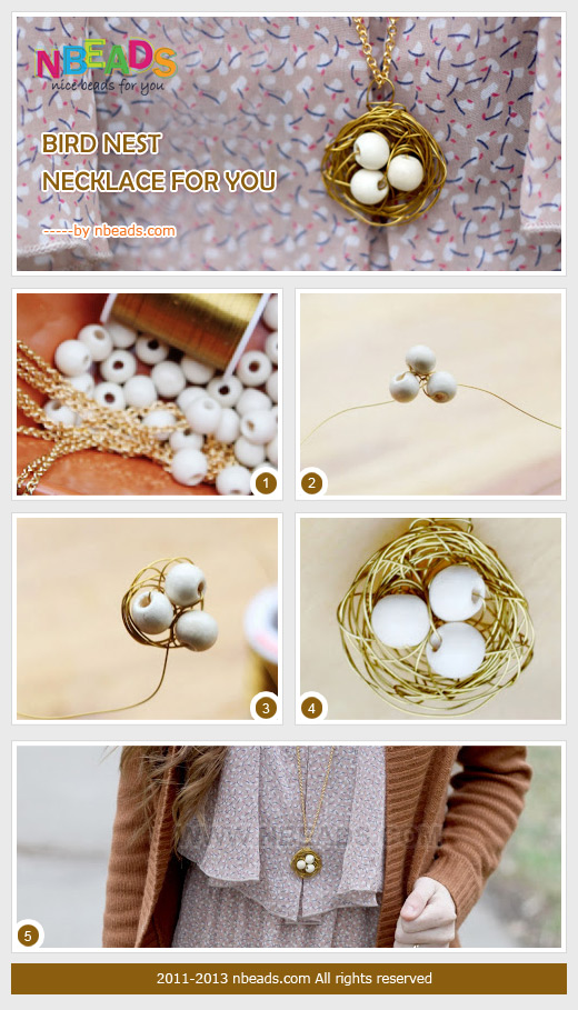 bird nest necklace for you