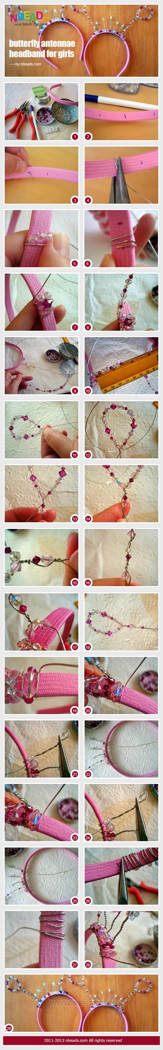butterfly antennae headband for girls