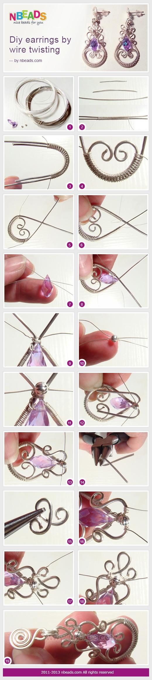 DIY Earrings By Wire Twisting – Nbeads